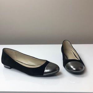 Naturalizer N5 Comfort Black Flat Silver Toe